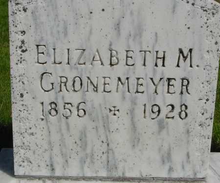 GRONEMEYER, ELIZABETH M. - Sac County, Iowa   ELIZABETH M. GRONEMEYER