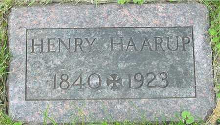 HAARUP, HENRY - Sac County, Iowa   HENRY HAARUP