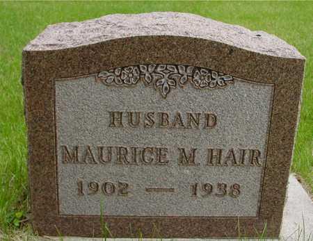 HAIR, MAURICE M. - Sac County, Iowa   MAURICE M. HAIR