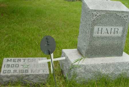 HAIR, MERTON V. - Sac County, Iowa | MERTON V. HAIR