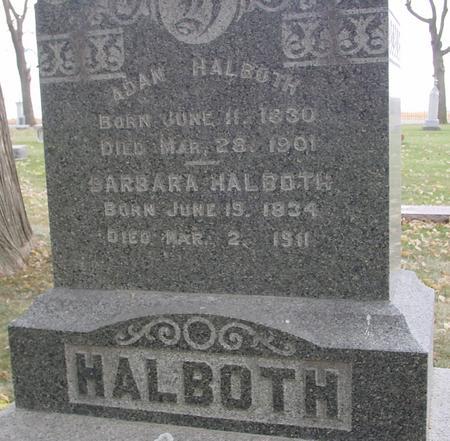 HALBOTH, ADAM & BARBARA - Sac County, Iowa | ADAM & BARBARA HALBOTH