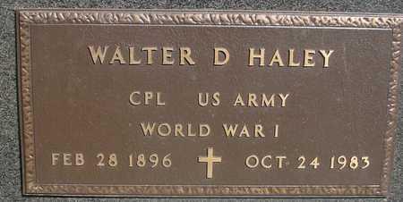 HALEY, WALTER D. - Sac County, Iowa | WALTER D. HALEY