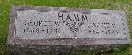 HAMM, GEORGE & CARRIE V. - Sac County, Iowa   GEORGE & CARRIE V. HAMM