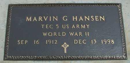 HANSEN, MARVIN G. - Sac County, Iowa   MARVIN G. HANSEN