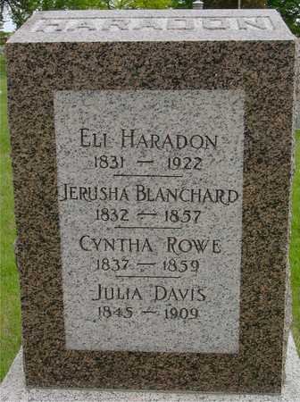 HARADON, FAMILY MONUMENT - Sac County, Iowa   FAMILY MONUMENT HARADON