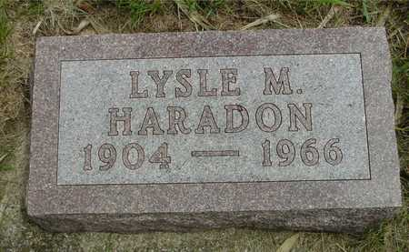 HARADON, LYSLE M. - Sac County, Iowa   LYSLE M. HARADON