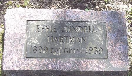 LUNDELL HARTMAN, EFFIE - Sac County, Iowa   EFFIE LUNDELL HARTMAN