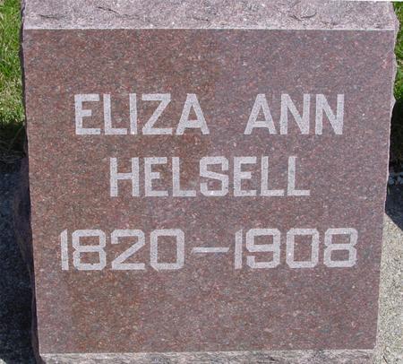 HELSELL, ELIZA ANN - Sac County, Iowa | ELIZA ANN HELSELL