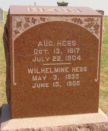 HESS, AUG. & WILHELMINE - Sac County, Iowa   AUG. & WILHELMINE HESS