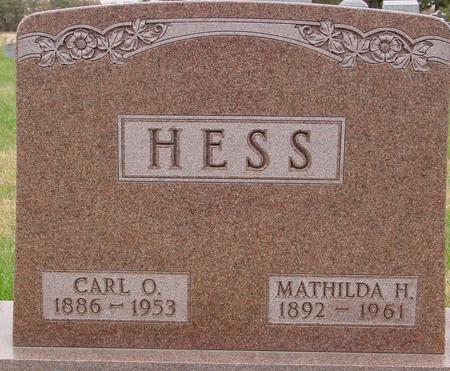 HESS, CARL & MATHILDA - Sac County, Iowa | CARL & MATHILDA HESS