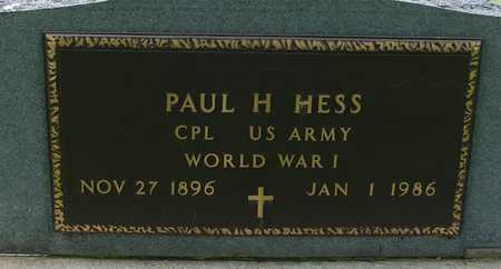 HESS, PAUL H. - Sac County, Iowa   PAUL H. HESS