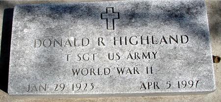 HIGHLAND, DONALD R. - Sac County, Iowa | DONALD R. HIGHLAND