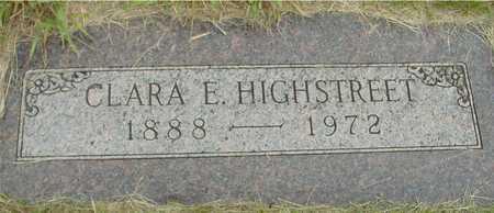 HIGHSTREET, CLARA E. - Sac County, Iowa | CLARA E. HIGHSTREET