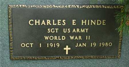HINDE, CHARLES E. - Sac County, Iowa | CHARLES E. HINDE