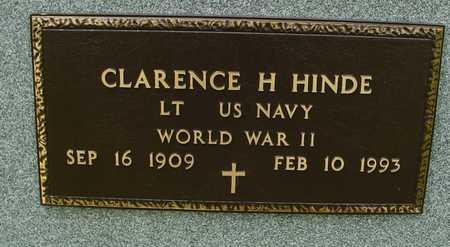 HINDE, CLARENCE H. - Sac County, Iowa | CLARENCE H. HINDE