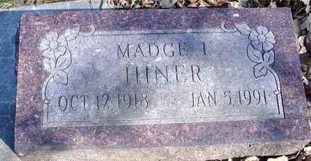 HINER, MADGE I. - Sac County, Iowa | MADGE I. HINER
