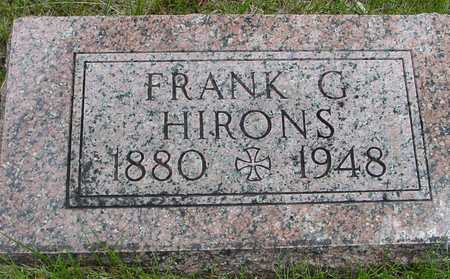 HIRONS, FRANK G. - Sac County, Iowa | FRANK G. HIRONS