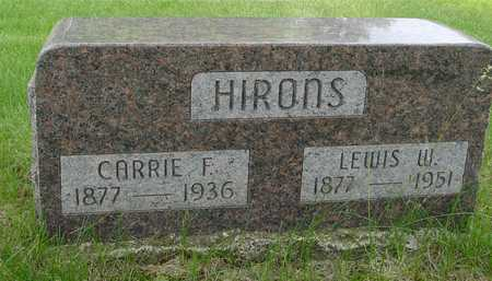 HIRONS, LEWIS & CARRIE F. - Sac County, Iowa | LEWIS & CARRIE F. HIRONS