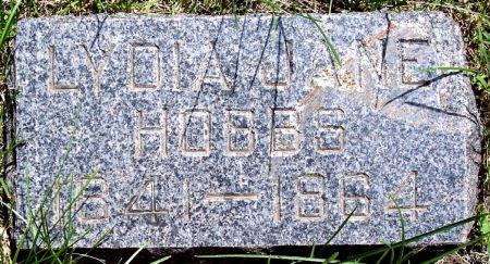 HOBBS, LYDIA JANE - Sac County, Iowa | LYDIA JANE HOBBS