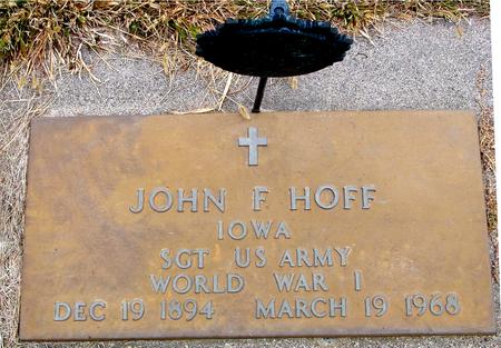 HOFF, JOHN F. - Sac County, Iowa | JOHN F. HOFF