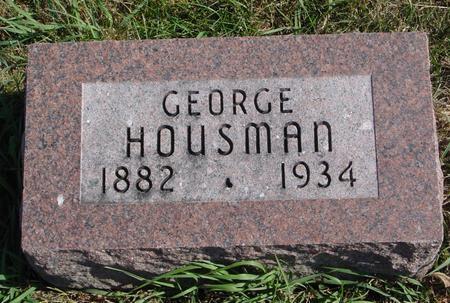 HOUSMAN, GEORGE - Sac County, Iowa | GEORGE HOUSMAN