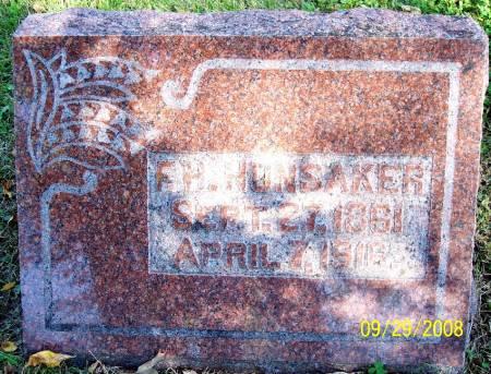 HUNSAKER, F H - Sac County, Iowa | F H HUNSAKER