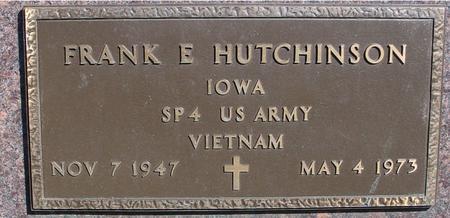 HUTCHINSON, FRANK E. - Sac County, Iowa | FRANK E. HUTCHINSON