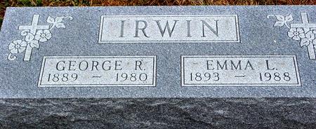 IRWIN, GEORGE R. & EMMA - Sac County, Iowa | GEORGE R. & EMMA IRWIN