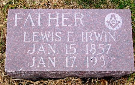 IRWIN, LEWIS E. - Sac County, Iowa   LEWIS E. IRWIN