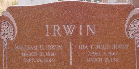 IRWIN, WILLIAM & IDA - Sac County, Iowa | WILLIAM & IDA IRWIN