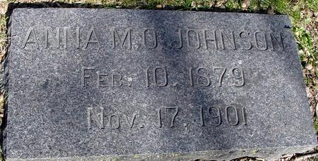 JOHNSON, ANNA M. O. - Sac County, Iowa   ANNA M. O. JOHNSON