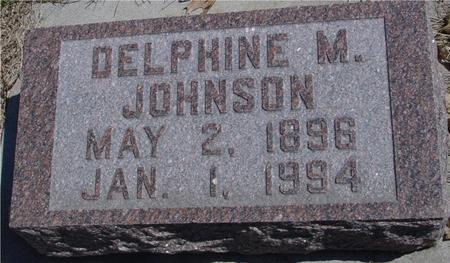 JOHNSON, DELPHINE M. - Sac County, Iowa   DELPHINE M. JOHNSON