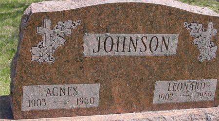 JOHNSON, LEONARD & AGNES - Sac County, Iowa | LEONARD & AGNES JOHNSON
