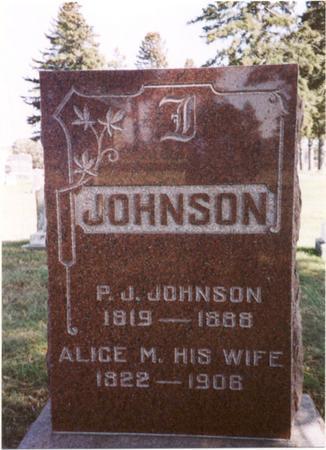 JOHNSON, P. J.  & ALICE - Sac County, Iowa | P. J.  & ALICE JOHNSON
