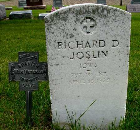JOSLIN, RICHARD D. - Sac County, Iowa | RICHARD D. JOSLIN