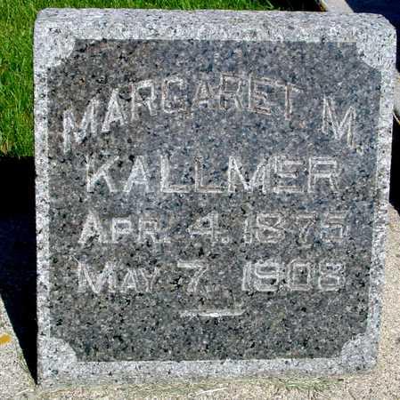 KALLMER, MARGARET M. - Sac County, Iowa   MARGARET M. KALLMER