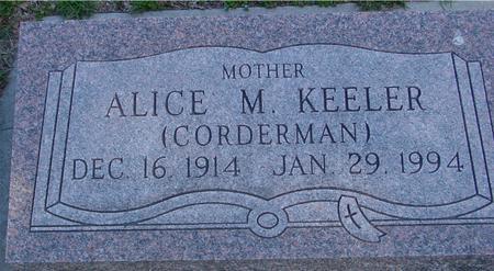 CORDERMAN KEELER, ALICE M. - Sac County, Iowa | ALICE M. CORDERMAN KEELER