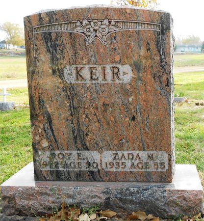 KEIR, ZADA MARY - Sac County, Iowa | ZADA MARY KEIR