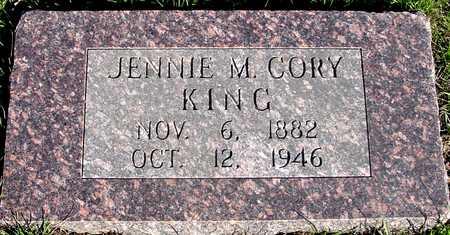 CORY KING, JENNIE M. - Sac County, Iowa | JENNIE M. CORY KING