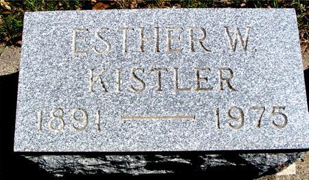 KISTLER, ESTHER W. - Sac County, Iowa | ESTHER W. KISTLER