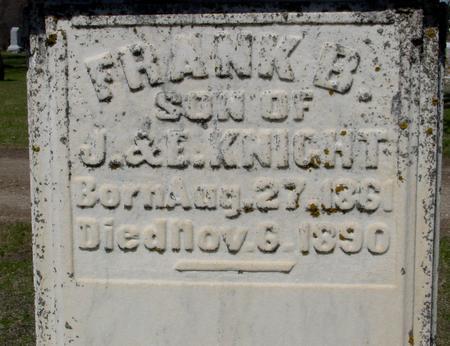 KNIGHT, FRANK B. - Sac County, Iowa   FRANK B. KNIGHT