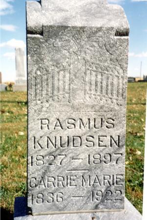 KNUDSEN, RASMUS & CARRIE - Sac County, Iowa   RASMUS & CARRIE KNUDSEN