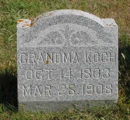 KOCH, GRANDMA - Sac County, Iowa   GRANDMA KOCH