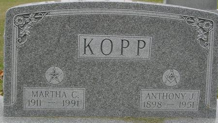 KOPP, ANTHONY & MARTHA - Sac County, Iowa   ANTHONY & MARTHA KOPP