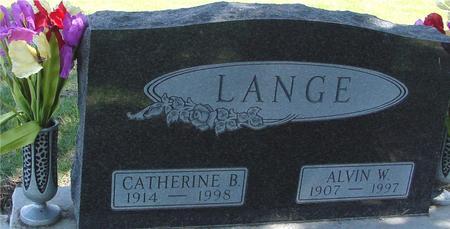 LANGE, ALVIN & CATHERINE - Sac County, Iowa   ALVIN & CATHERINE LANGE