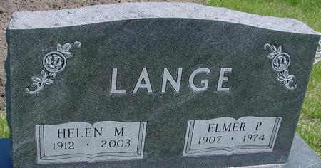 LANGE, ELMER & HELEN M. - Sac County, Iowa | ELMER & HELEN M. LANGE