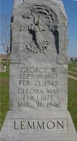 LEMMON, GEORGE & CLEORA M. - Sac County, Iowa   GEORGE & CLEORA M. LEMMON