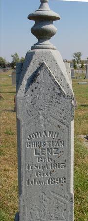 LENZ, JOHANN CHRISTIAN - Sac County, Iowa | JOHANN CHRISTIAN LENZ