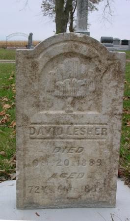 LESHER, DAVID - Sac County, Iowa | DAVID LESHER
