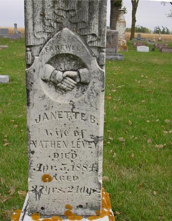 LEVEY, JANETTE B. - Sac County, Iowa   JANETTE B. LEVEY